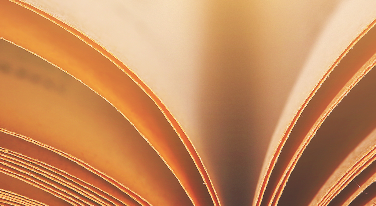 close up of pages of books
