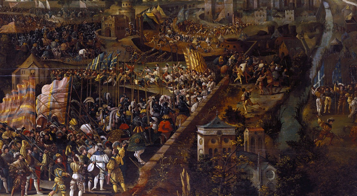 Battle of Pavia oil painting