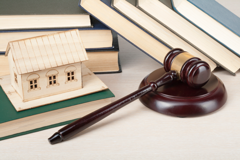 Gavel and legal documentation