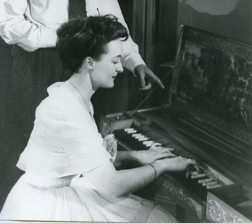 Eileen Joyce playing harpsichord