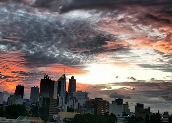 Perth City sunset