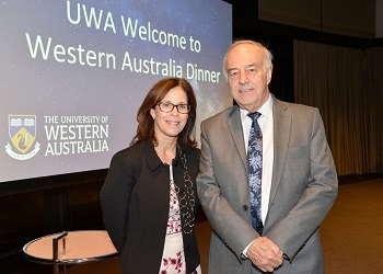 UWA Vice-Chancellor with WUN Executive Director