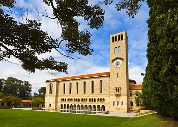 Winthrop hall exterior during the day