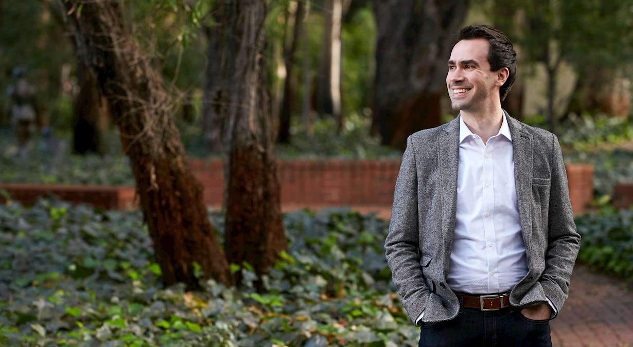 Jonathan Fitzgerald smiling at uwa