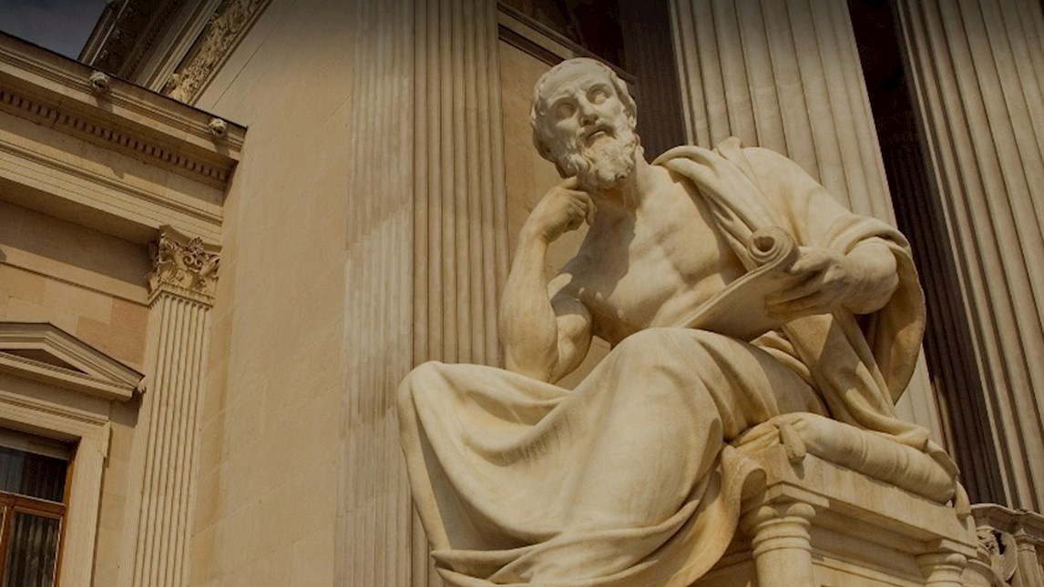 Statue of Greek philosopher Herodotus