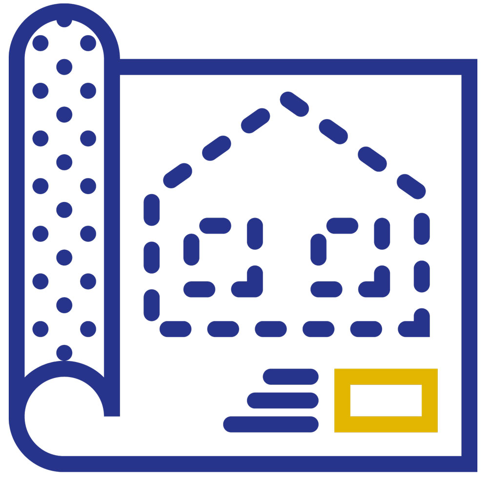 blueprint of house icon