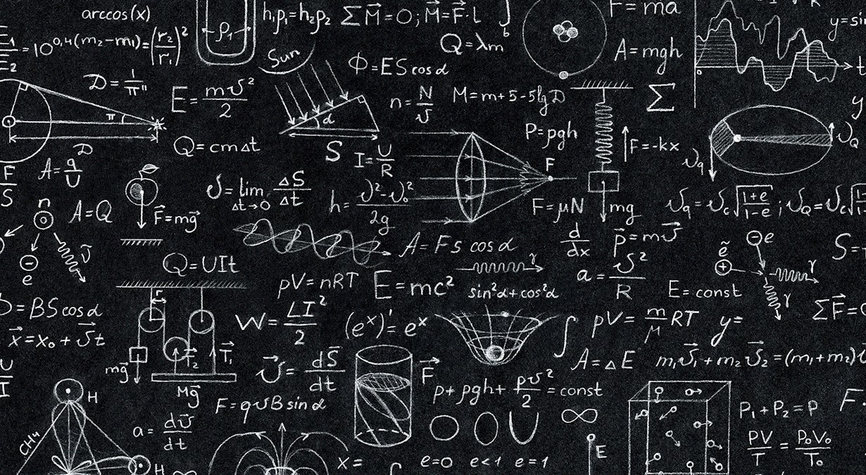 Chalkboard with mathematics