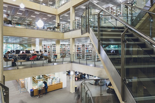 Inside Barry J. Marshall Library