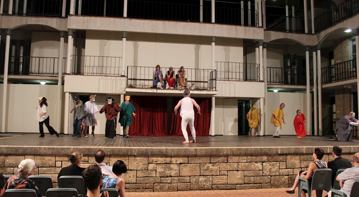 live performance at the theatre