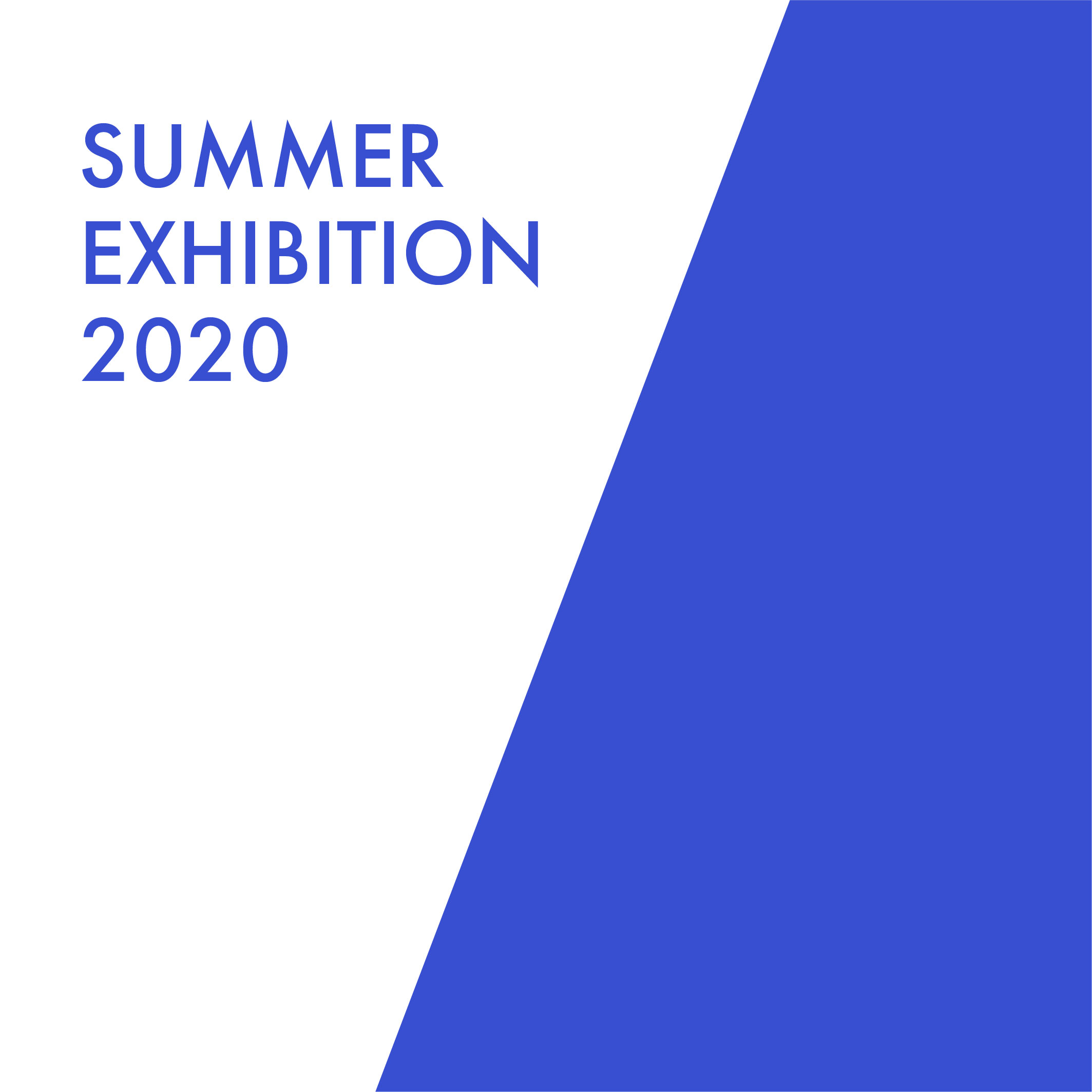 A simple graphic with the words Summer Exhibition 2020