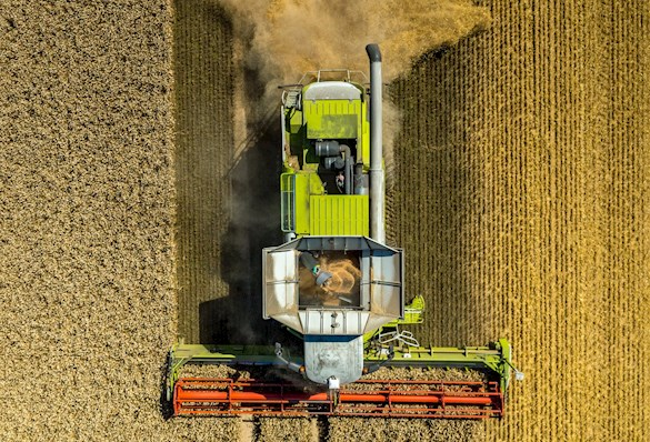 Tractor from above
