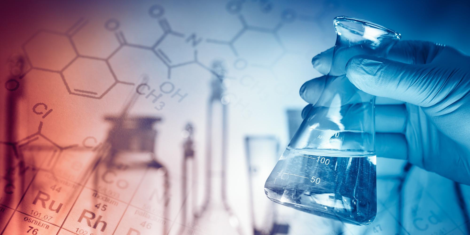 Beaker in a chemistry lab