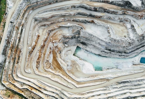 Birdseye view of quarry in Barossa Valley South Australia