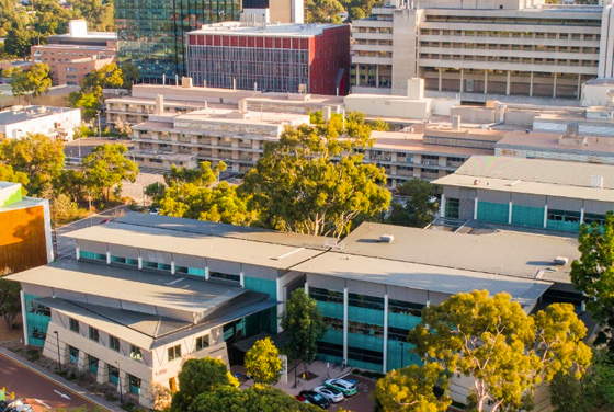 Exterior of UWA Health and Medical Science centre