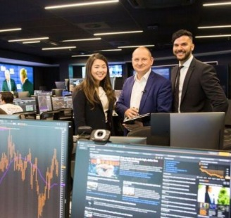 UWA staff in the Trading Room