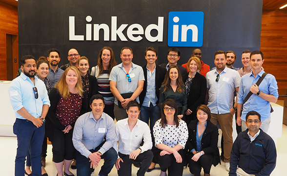 mba students at linkedin in san francisco