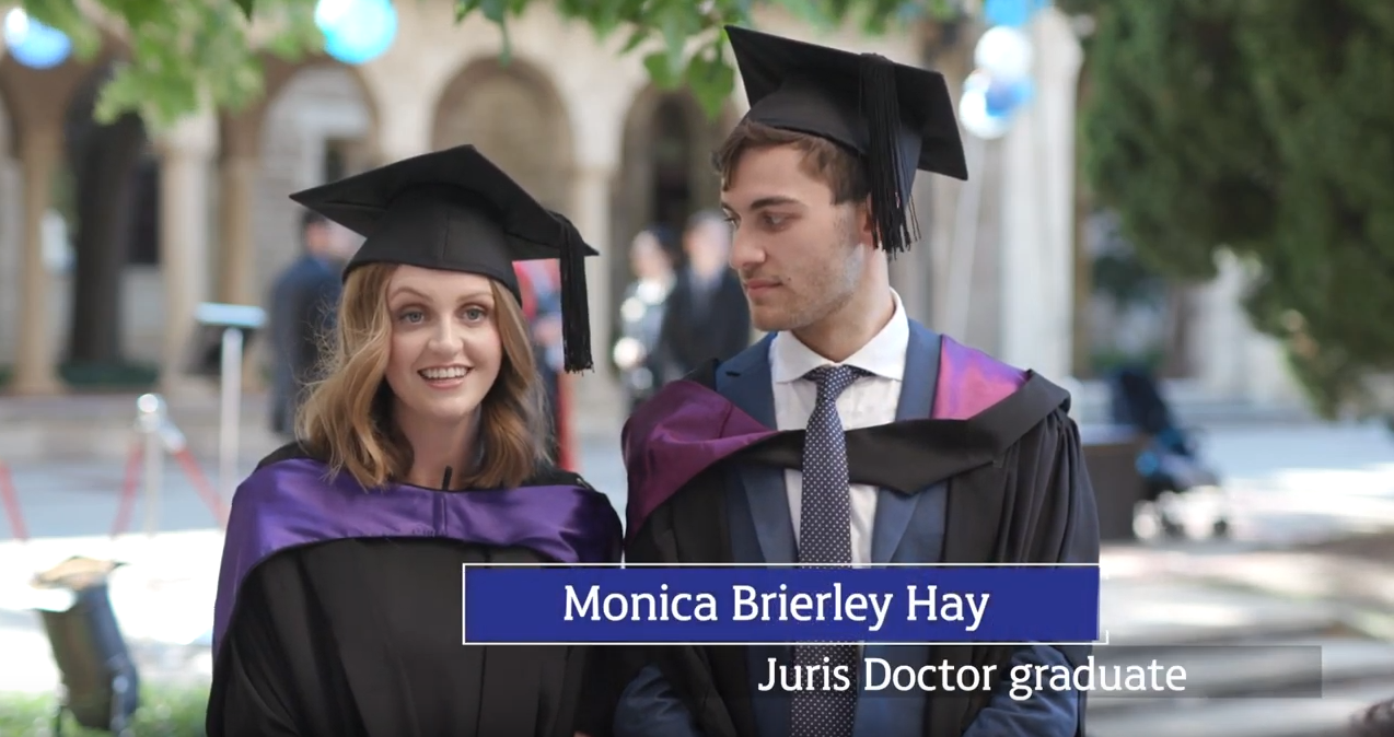 Monica Brierley Hay in graduation gown