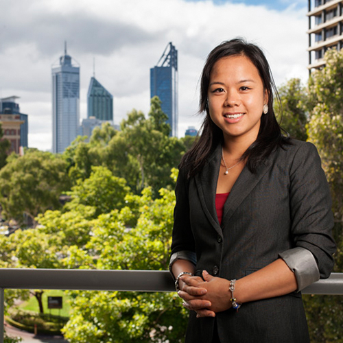 Graduate outcomes - UWA graduate Julie Goh at her workplace